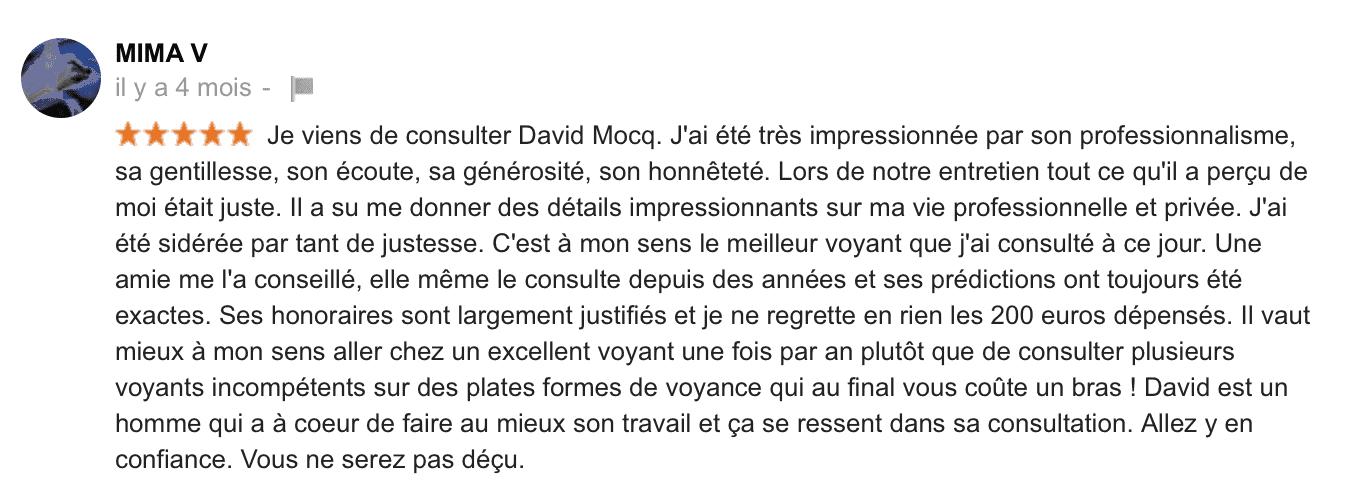 Avis David Mocq - Google 3
