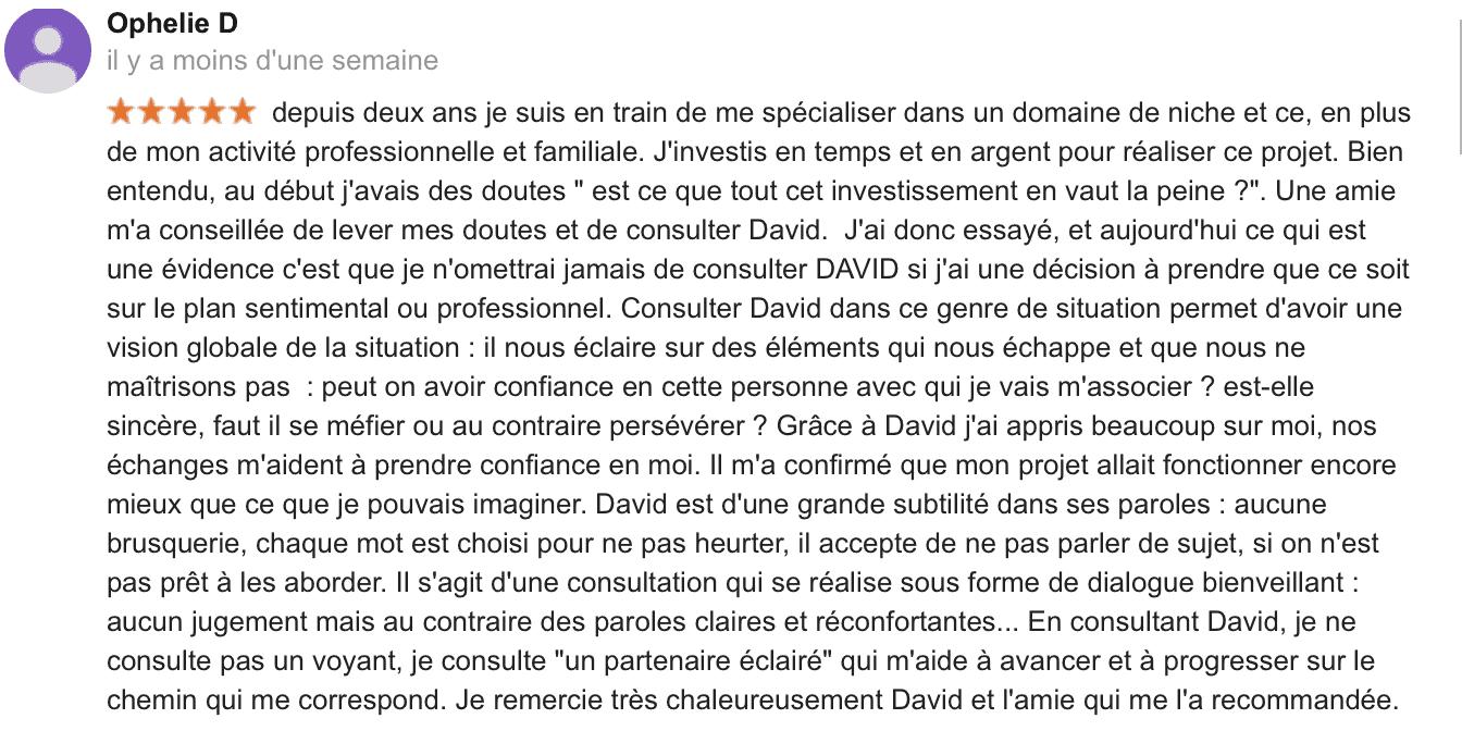 David Mocq Avis Ophélie D.