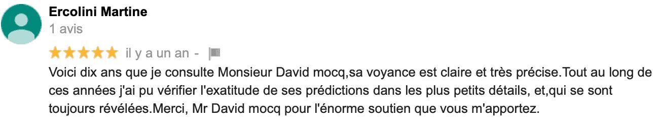 David Mocq, avis Martine E
