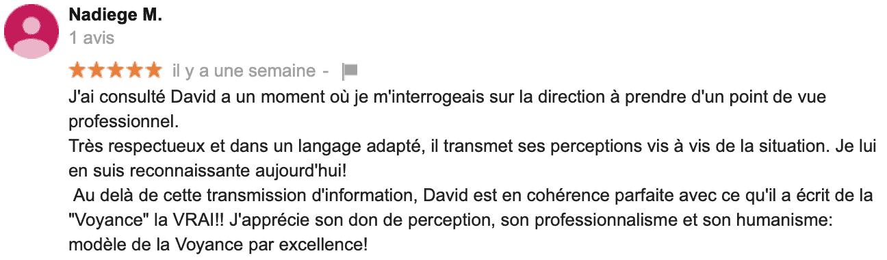 David Mocq, avis Nadiège M
