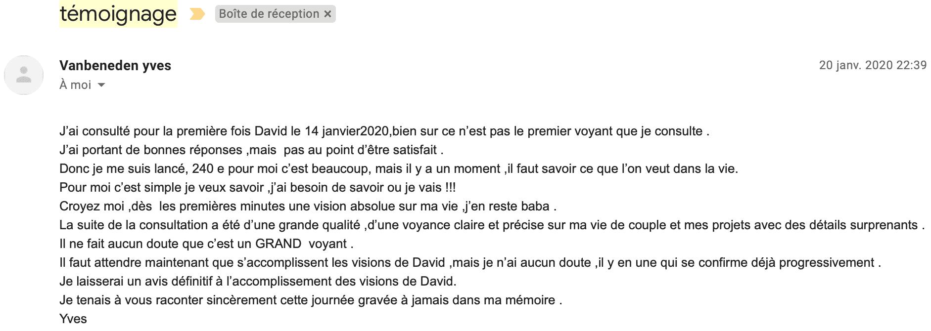 Témoignage David Mocq - Yves V.